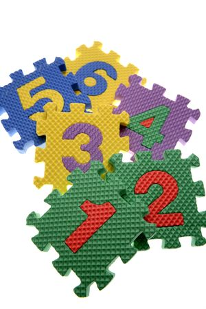 Number learning blocks isolated over white Stock Photo - 2165602