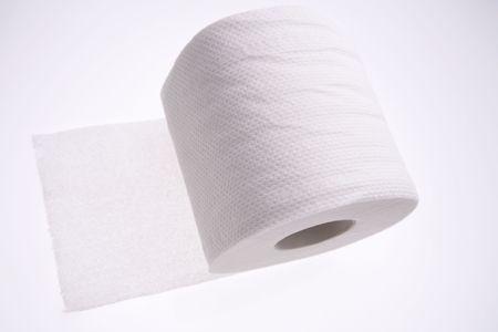 Toilet paper tissue, blue tone Stock Photo - 2193279