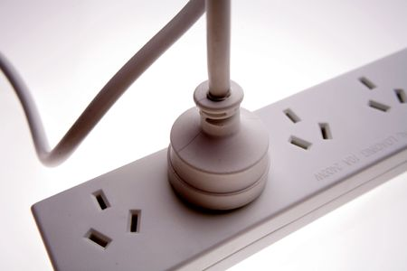Electrical plug in power-board Stock Photo - 2193313