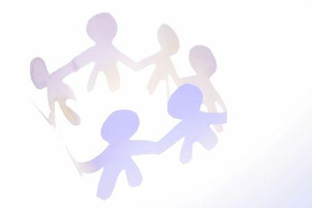 Documento de la cadena de personas en un círculo la mano  Foto de archivo - 2193231