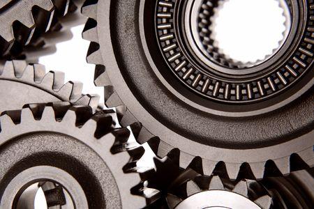 Closeup of steel gears Stock Photo - 2196970