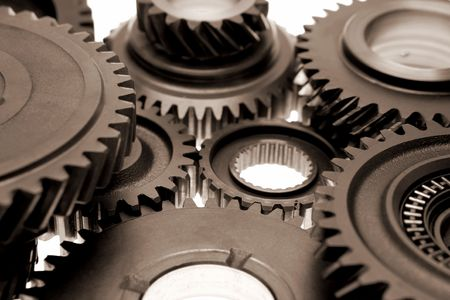 interlink: Gears over white