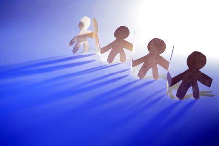 human likeness: Team together holding hands