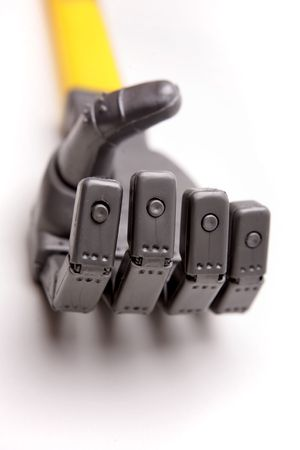 Robot hand over white Stock Photo - 2210895