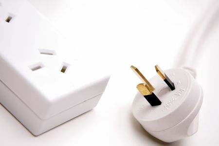 Electrical plug and power-board Stock Photo - 2210882