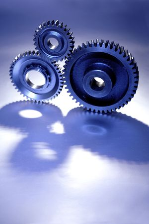 Three cogs together Stock Photo - 2246341