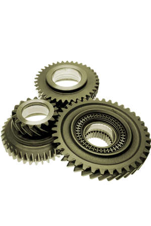 Three gears over white Stock Photo - 2276236
