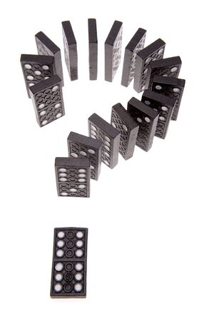Dominoes question mark Stock Photo - 2276225
