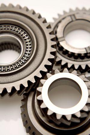 Three gears meshing together  photo