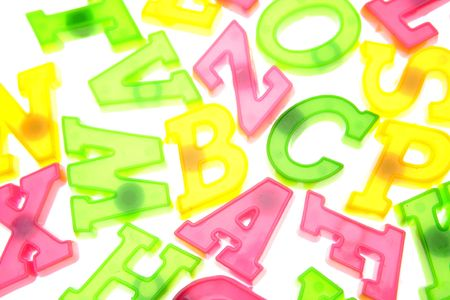 Alphabet letters over white background Stock Photo - 2334836