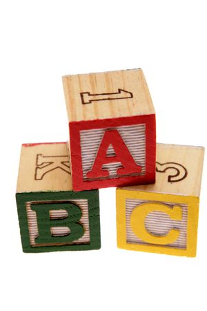 ABC learning blocks isolated over white Stock Photo - 2334266