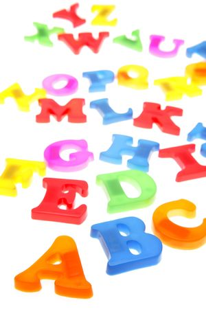 Alphabet letters over white background Stock Photo - 2334334
