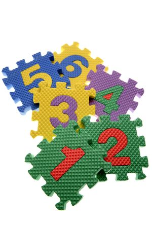 Number learning blocks isolated over white Stock Photo - 2334865