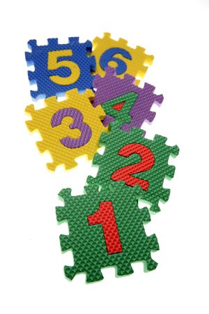 Number learning blocks isolated over white Stock Photo - 2334864