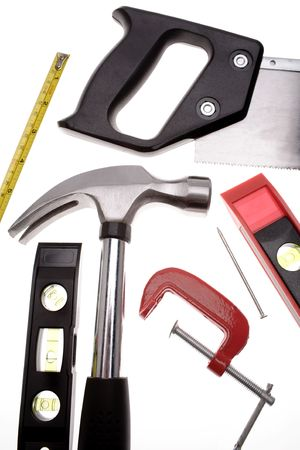 Tools over white Stock Photo - 2349158
