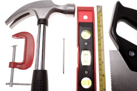Tools over white Stock Photo - 2349164