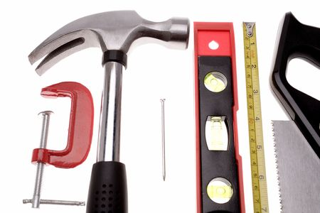 Tools over white Stock Photo - 2349154