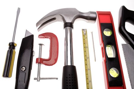 Tools over white Stock Photo - 2349162