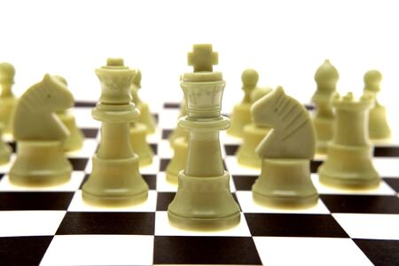 analogy: White chess pieces on board