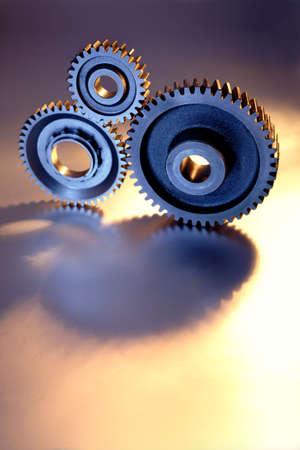 Closeup of three gears  Stock Photo - 2370827
