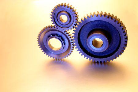 Closeup of three gears  photo