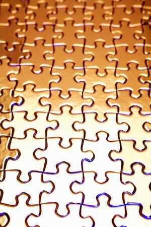 alongside: Jigsaw puzzle Stock Photo
