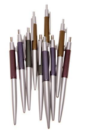 ballpoint: Ballpoint pens over white