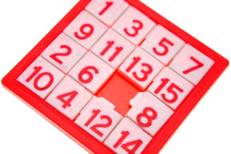 Numbers puzzle over white background Stock Photo - 2472010