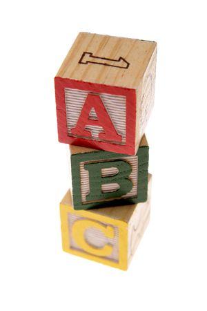 ABC learning blocks isolated over white Stock Photo - 2472001
