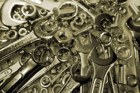 handtools: Spanners, nuts and bolts