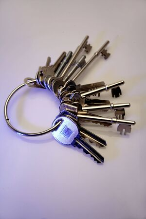 Bunch of keys on keyring Stock Photo - 2650940