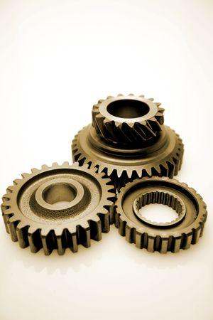 Three metal gears photo