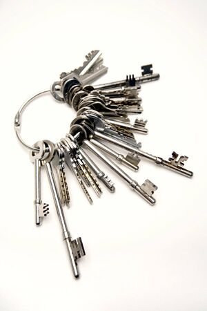 Bunch of keys, studio shot photo