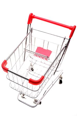 Shopping trolley isolated on white background Stock Photo - 2766852