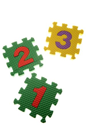 Number learning blocks isolated over white Stock Photo - 2918481