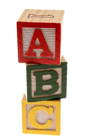 ABC learning blocks isolated over white Stock Photo - 2954641