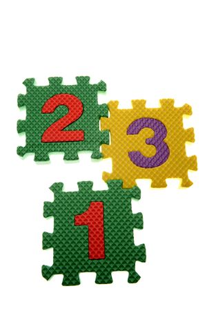 Number learning blocks isolated over white Stock Photo - 2954437