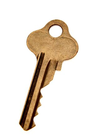 Key isolated on white background photo