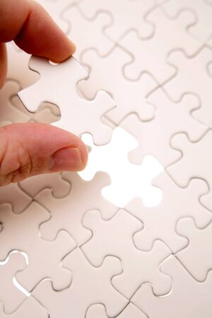 Final piece of jigsaw puzzle Stock Photo - 3064648
