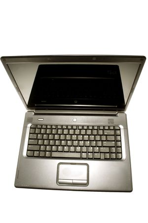 Laptop computer isolated on white photo