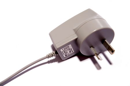 Plug and cable on white Stock Photo - 3091124