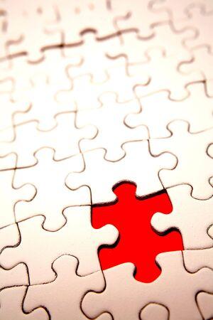 missing piece: Falta pieza de puzzle  Foto de archivo