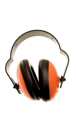 protectors: Ear protectors isolated over white