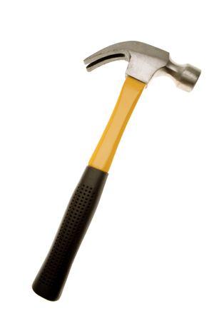carpenter items: Hammer isolated over white background