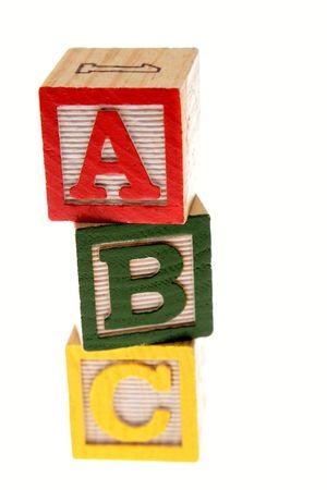 ABC learning blocks isolated over white Stock Photo - 3180651