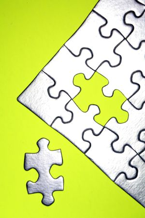 Final piece of jigsaw puzzle Stock Photo - 3262042