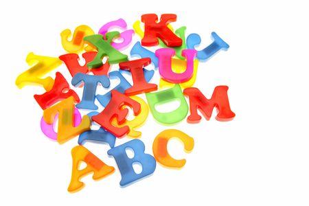 Alphabet letters on white Stock Photo - 3281004