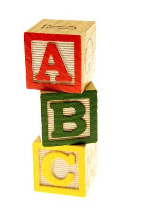 ABC learning blocks isolated over white Stock Photo - 3281016