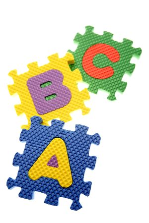 ABC learning blocks isolated over white Stock Photo - 3281020