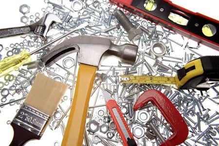 Assorted work tools Stock Photo - 3496002